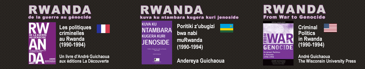 RWANDA From War to Genocide